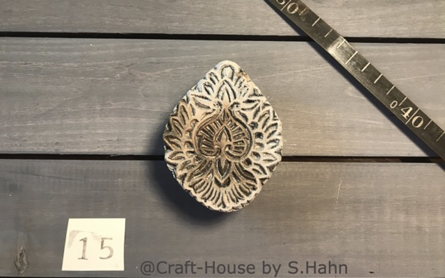Indischer Stempel Nr. 15 - originelle Dekoration für Keramik bei Craft-House by S. Hahn