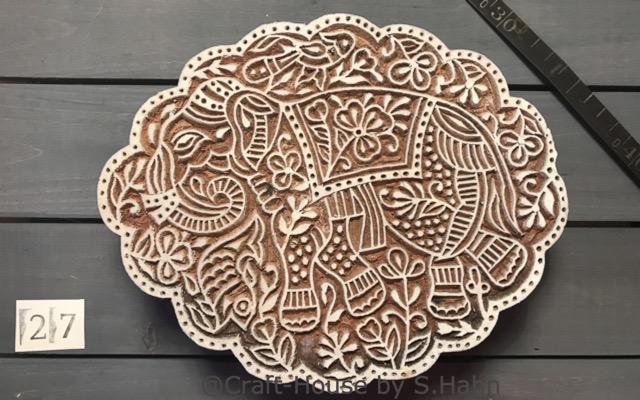 Indischer Stempel Nr. 27 - originelle Dekoration für Keramik bei Craft-House by S. Hahn
