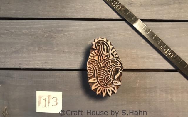 Indischer Stempel Nr. 13 - originelle Dekoration für Keramik bei Craft-House by S. Hahn