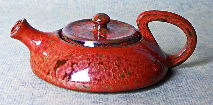 thiere ceramique rouge