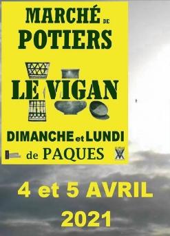 Le traditionnel Marché des Potiers du Vigan : week-end de Pâques.