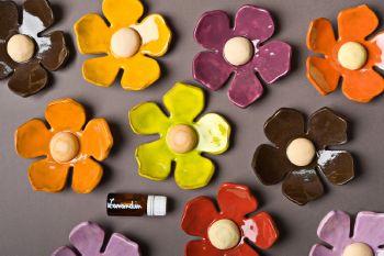 fleur ceramique atelier de vero