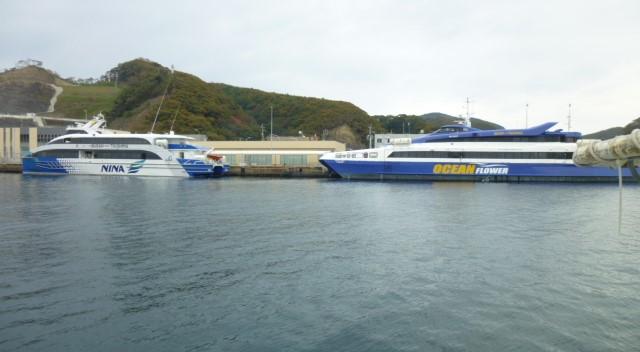 どの高速艇で釜山へ 帰るのかな