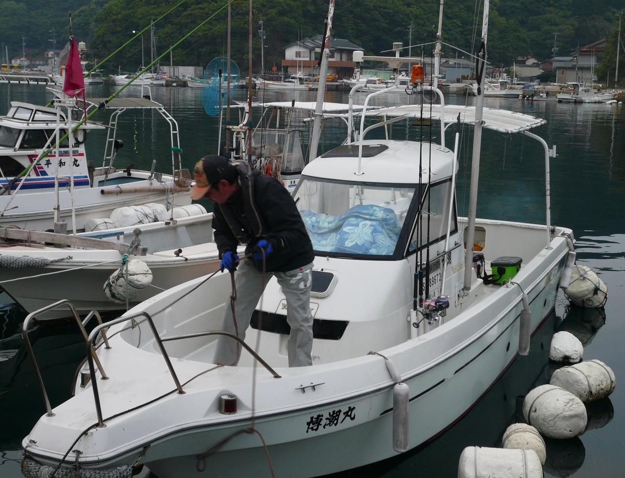 5月4日 レンタルボート博潮丸 岡崎船長 出船です