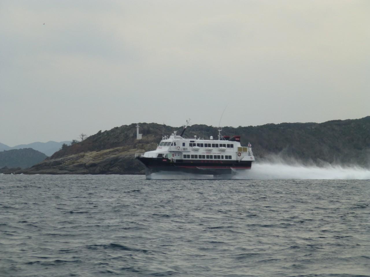 1月5日比田勝港出口 高速艇ビートル釜山へ
