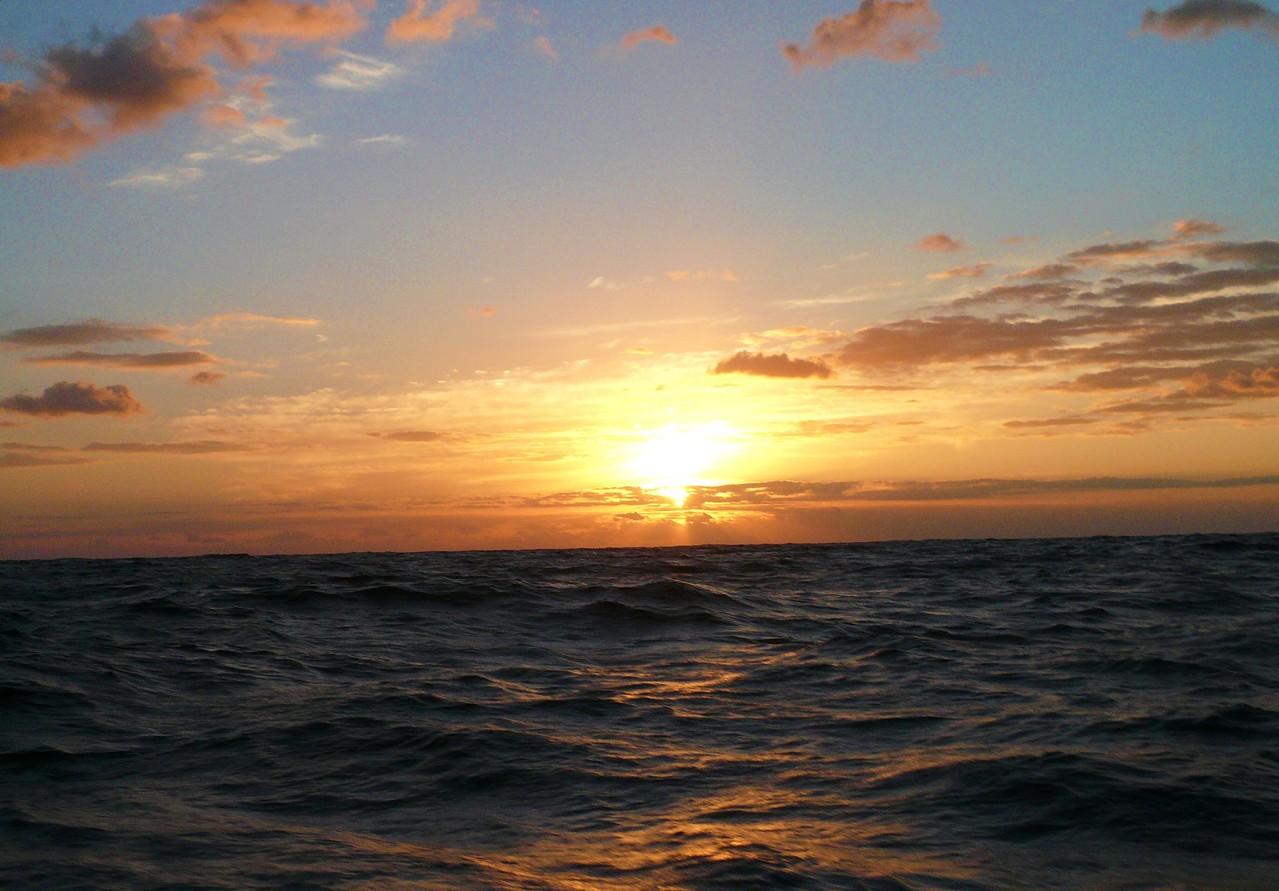 波の高さ1.3m 北北東の風7m