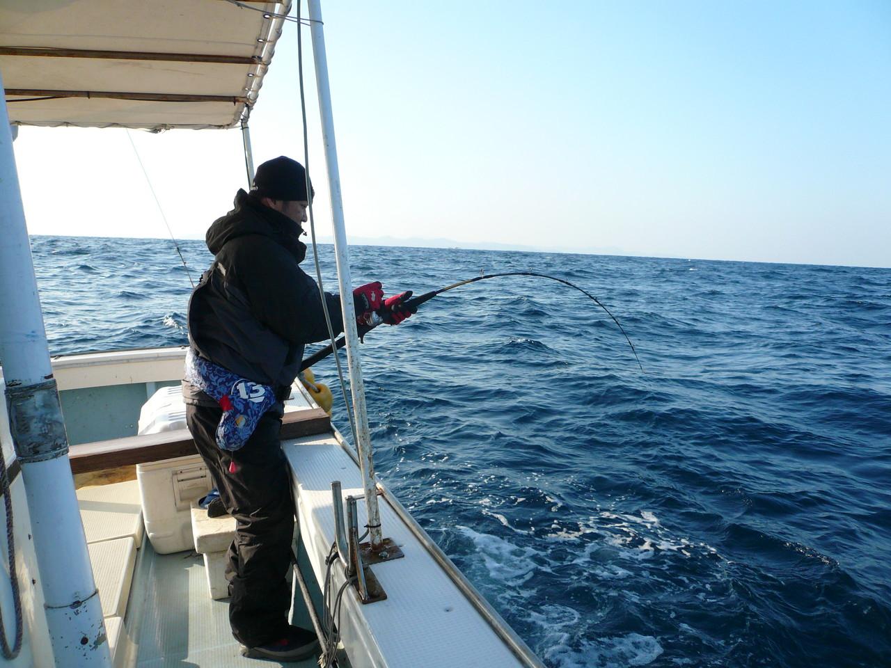 亀岡様 初日 10kgブリ釣り挑戦