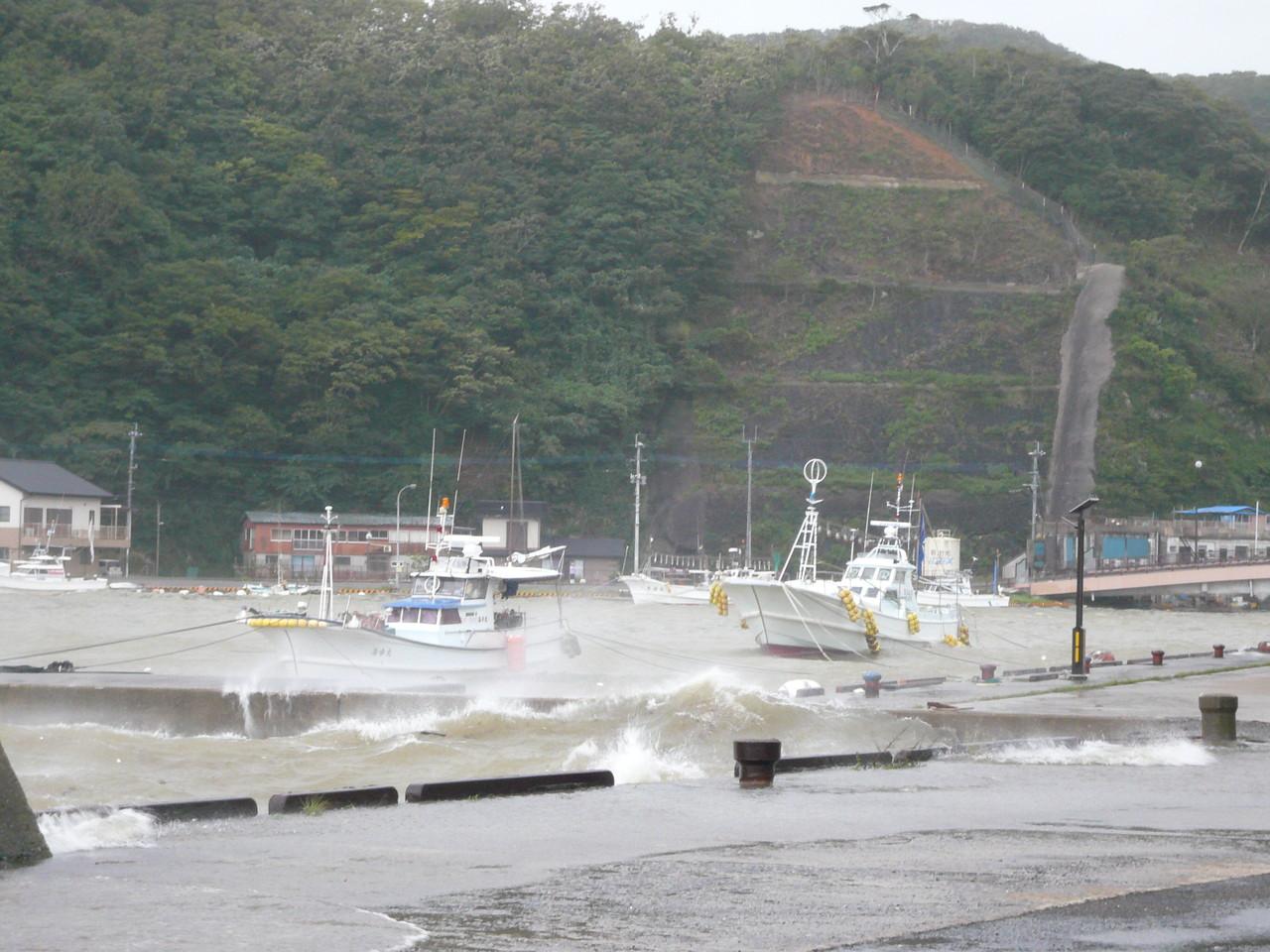 午前9時すぎ 朝鮮海峡対馬の西110km通過中 影響あり