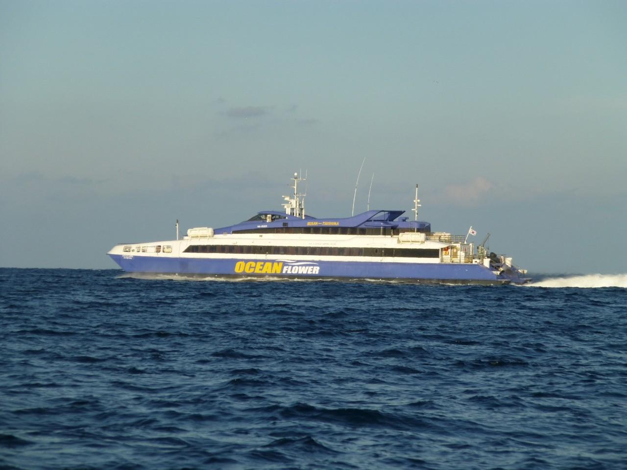 12月26日 本船帰港へ 高速艇オーシャンフラワー釜山へ