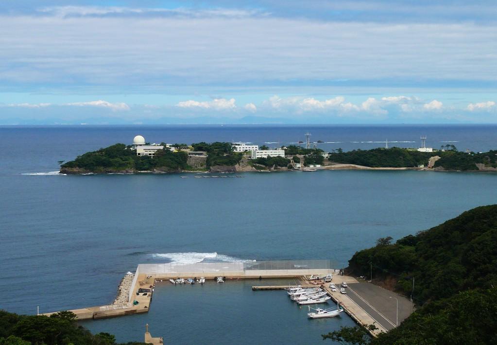 韓国展望所から 海栗島 韓国の山並み見えてますか ?