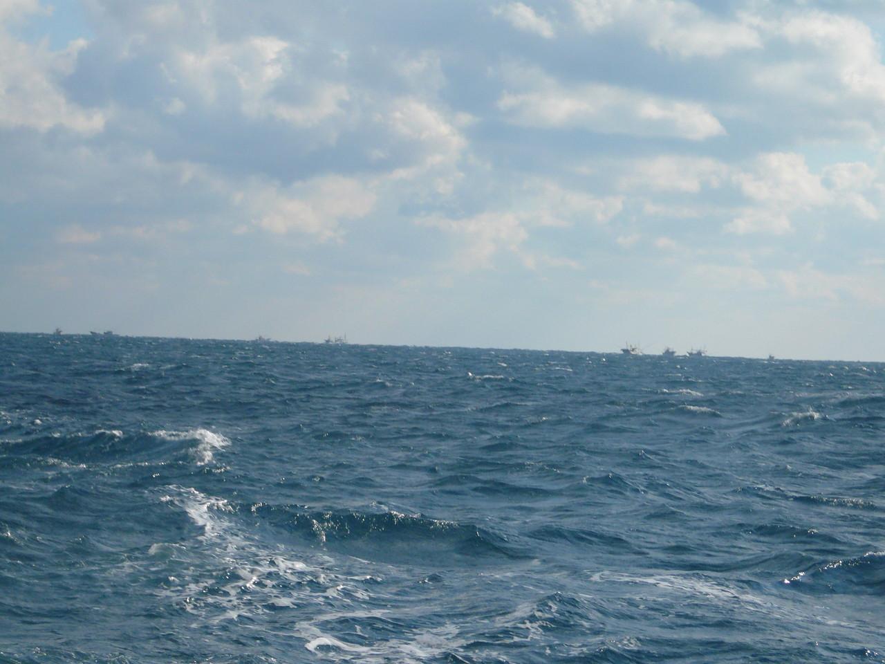 サワラ漁 トローリング漁船