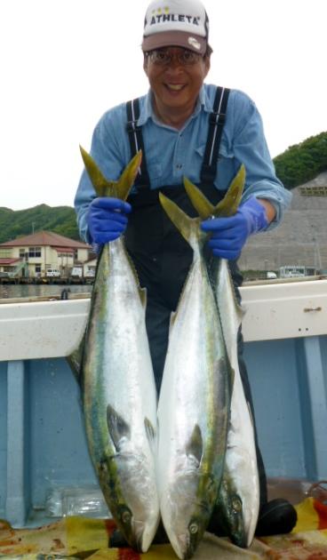 5月5日佐藤さん10kg超えブリ×2匹・8㎏超えブリ