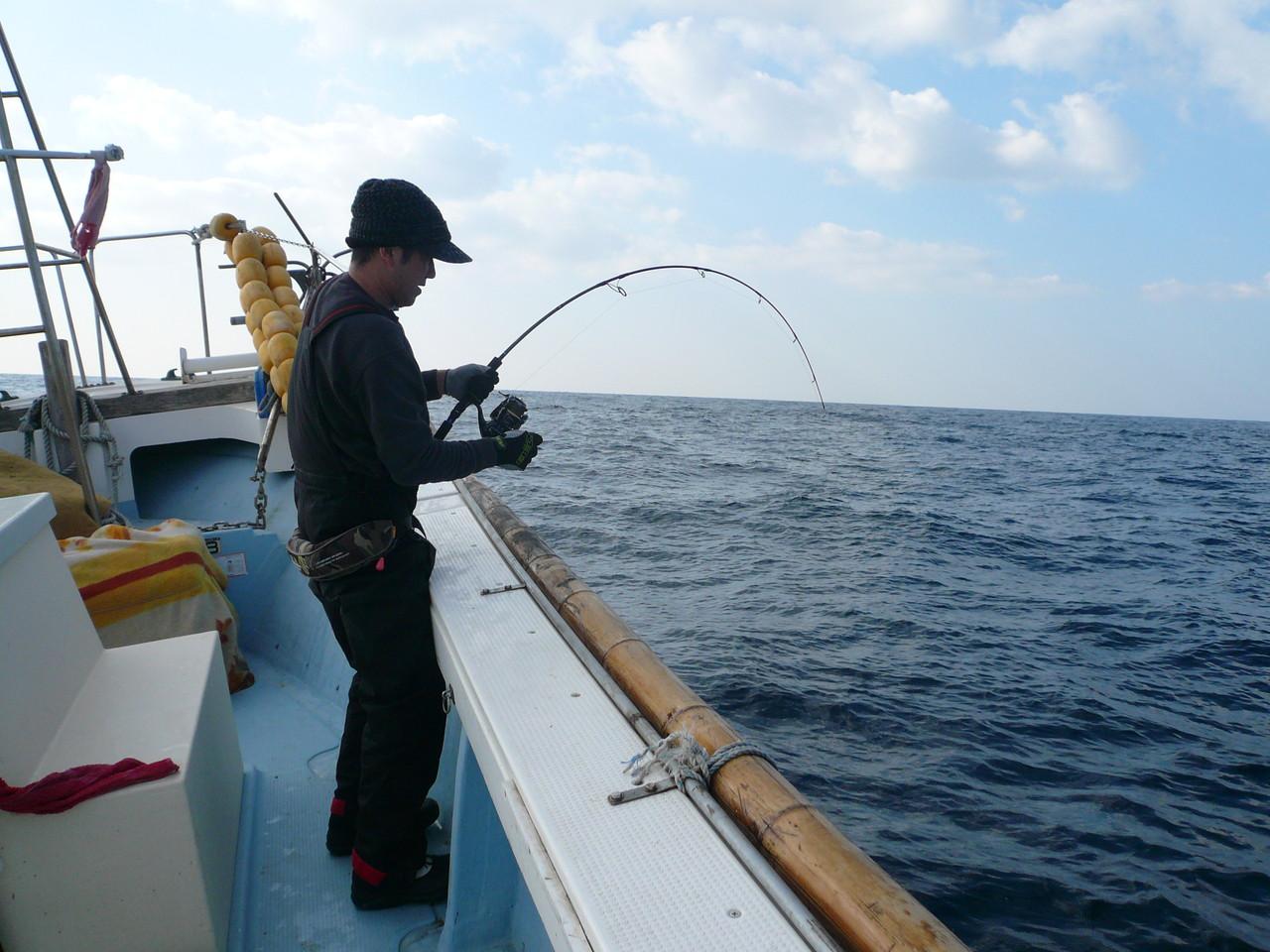 野尻様 初日 10kgブリ釣り挑戦