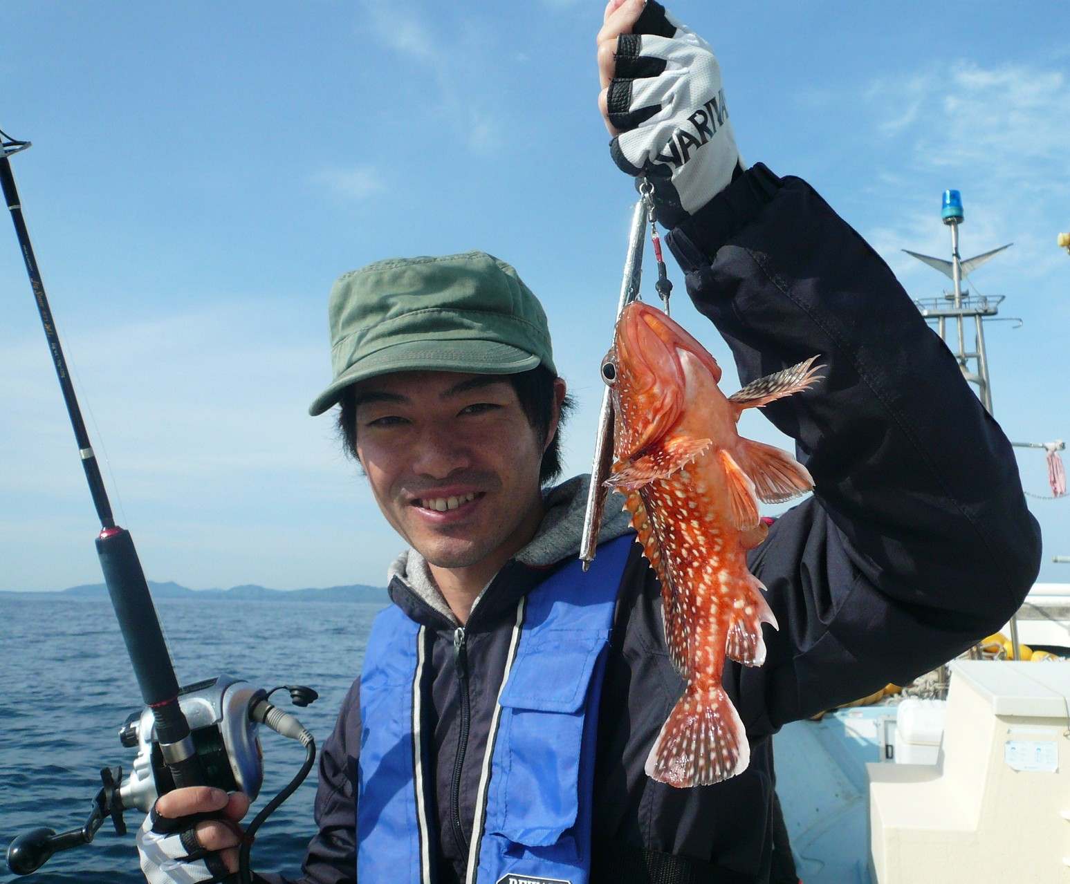 5月4日 バケモン(タイ釣り場)ポイント 福田さんもアラカブゲット