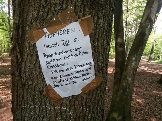Gesehen im Wald in Refrath!