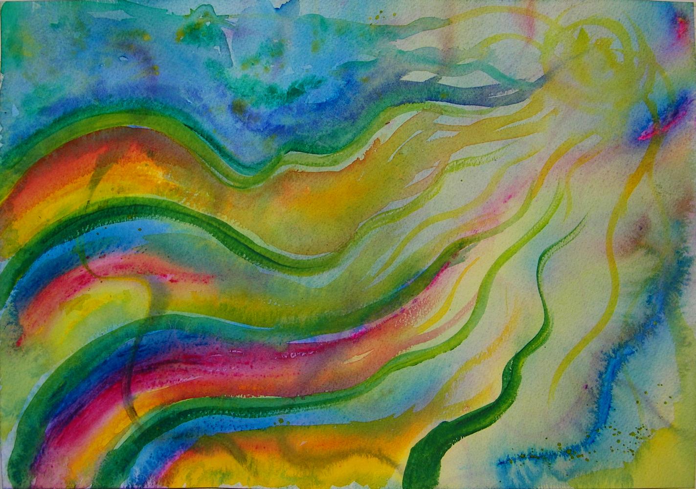 Nan-in-nat schildering met acrylverf - ademen
