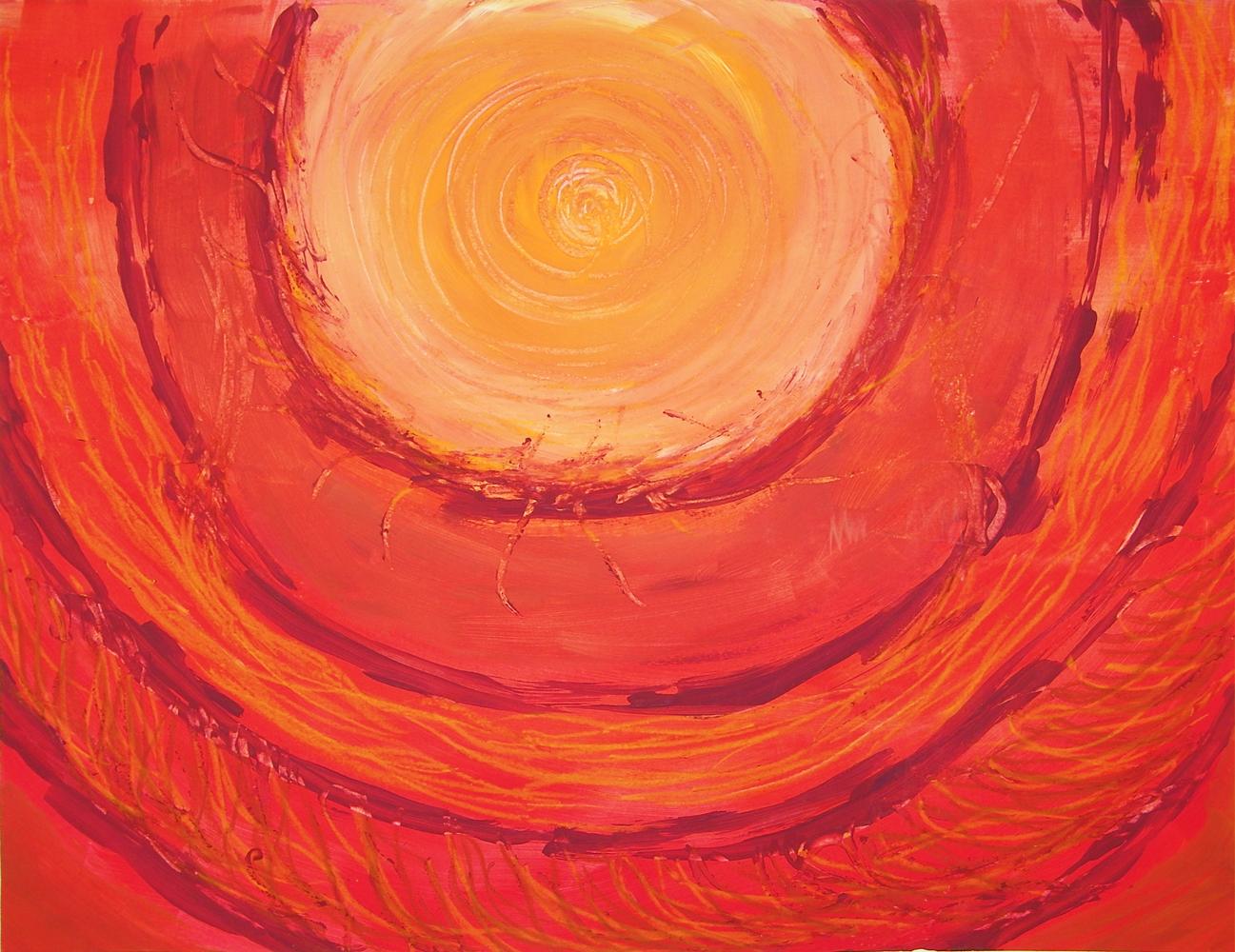 Intuïtief schilderij - warmte en bescherming