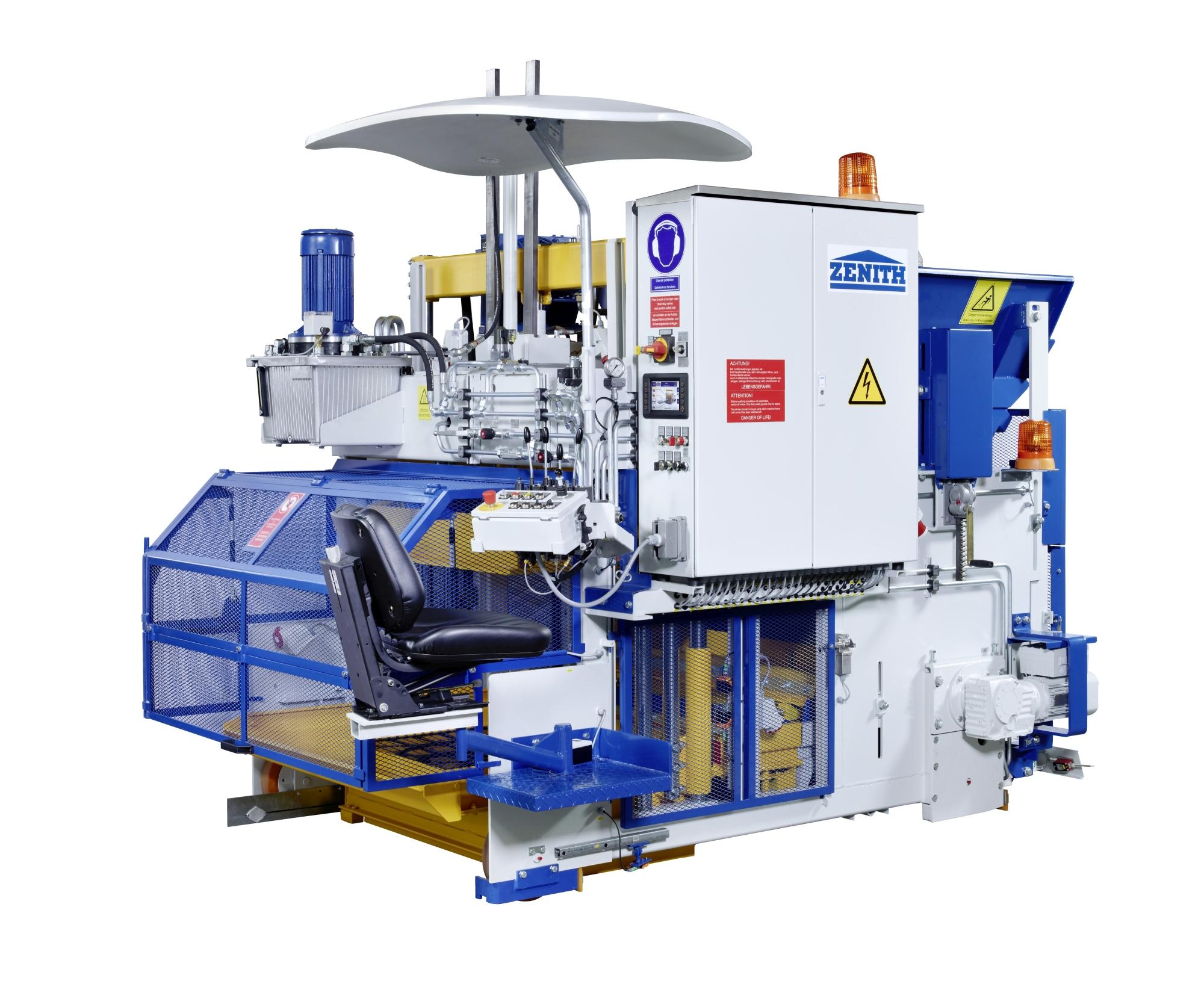 Cement Block Machines : Zenith concrete block machines precast machinery