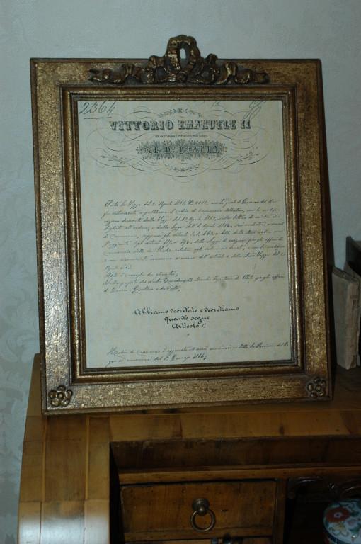 Decreto di Vittorio Emanuele II^  Approvazione del Codice di Commercio entrato in vigore il 1.1.1886