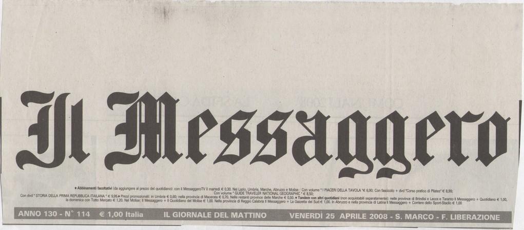 IL MESSAGGERO - Venerdì 25 aprile 2008 - Famiglie via internet