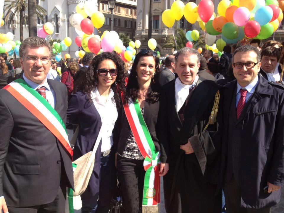 Con i Sindaci del circondario e l'Avv. Massimo Dell'Utri, Delegato OUA di Caltanissetta