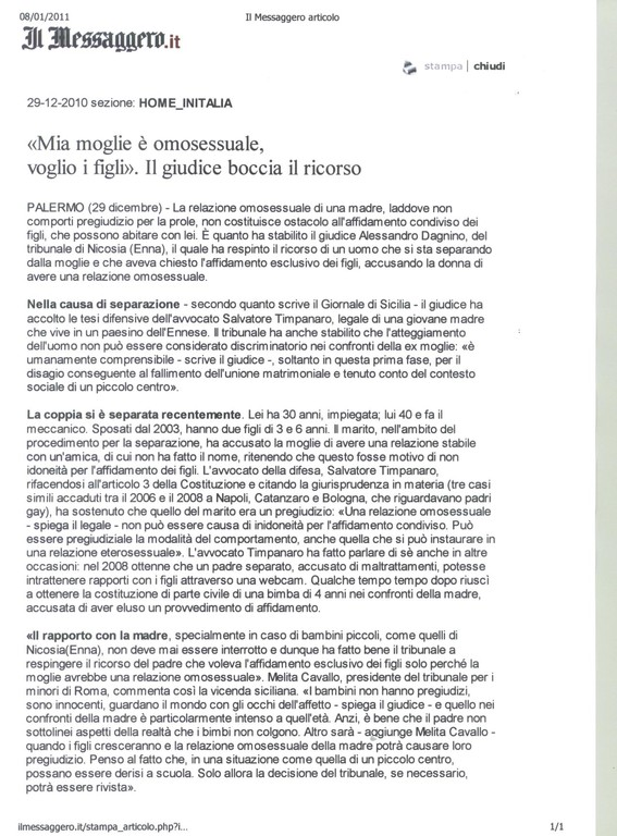 Il Messaggero.it 29-12-2010
