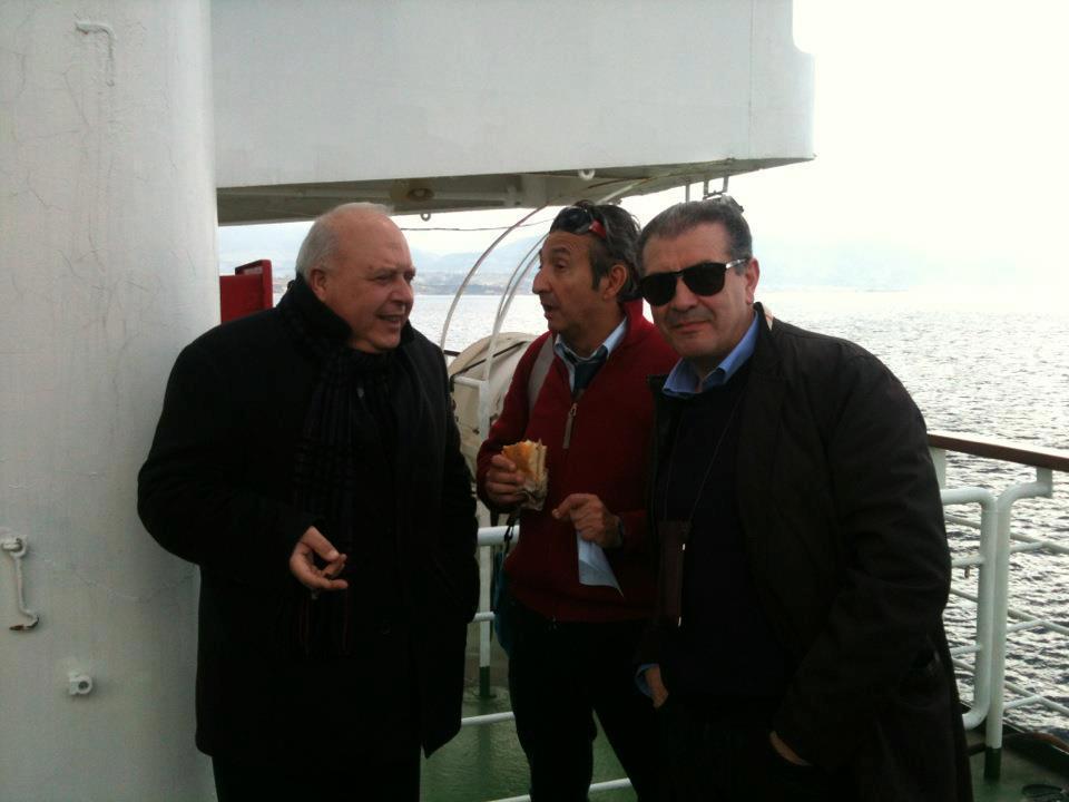 Con l'On.le Tano Grasso - sul traghetto