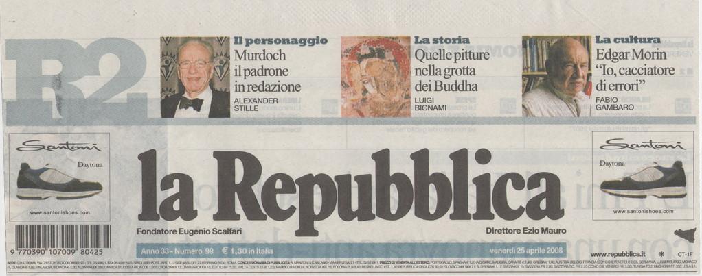 "LA REPUBBLICA - Venerdì 25 aprile 2008 ""Sentenza del Tribunale di Enna. L'ex moglie si era trasferita in una città lontana"""
