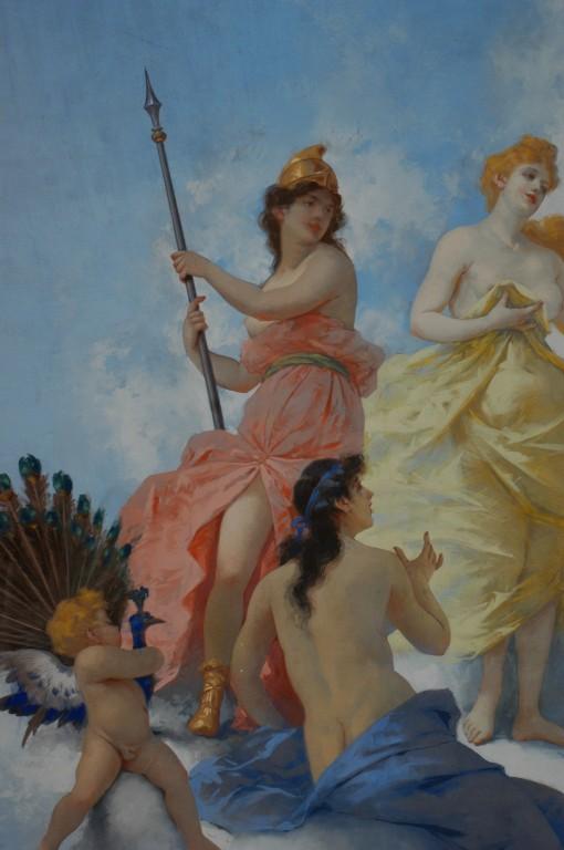 Particolare: Le tre dee: Minerva, Venere e Giunone (di spalle).