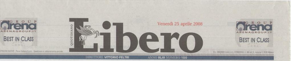 """LIBERO - Venerdì 25 aprile 2008 """"Prima sentenza in Italia""""-Il papà è separato ma potrà vedere i figli su internet"""