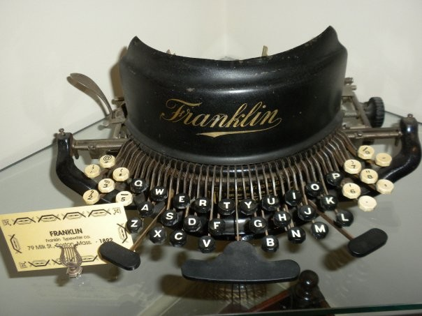 FRANKLIN  Franklin  Typewriter co.  79 Milk St., Boston, Mass.  - 1892