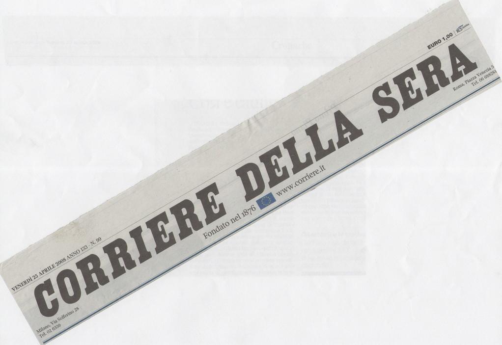 """CORRIERE DELLA SERA - Venerdì 25 aprile 2008 """"La webcam al papà separato. Così potrà vedere i figli"""""""