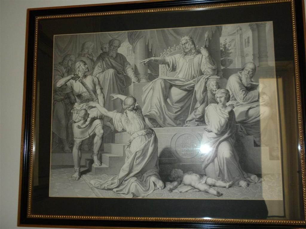 Il giudizio di Salomone - Stampa Vienna primi '900