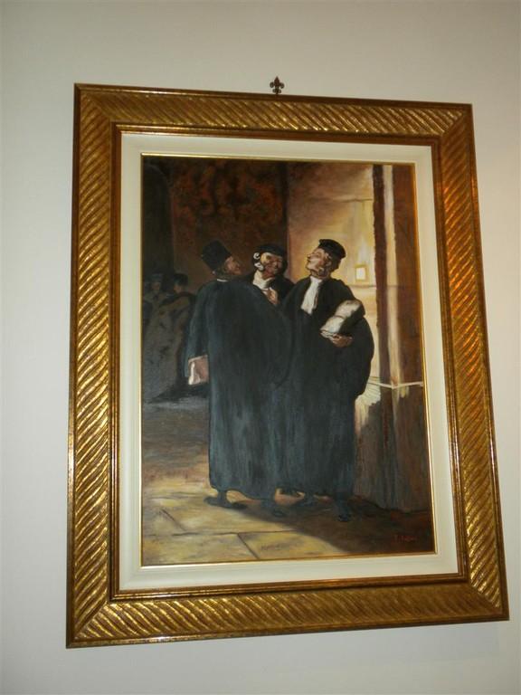 """Omaggio a Daumier.Olio. """"Falso d'autore""""- Studio alla """"stanza degli stivali"""""""