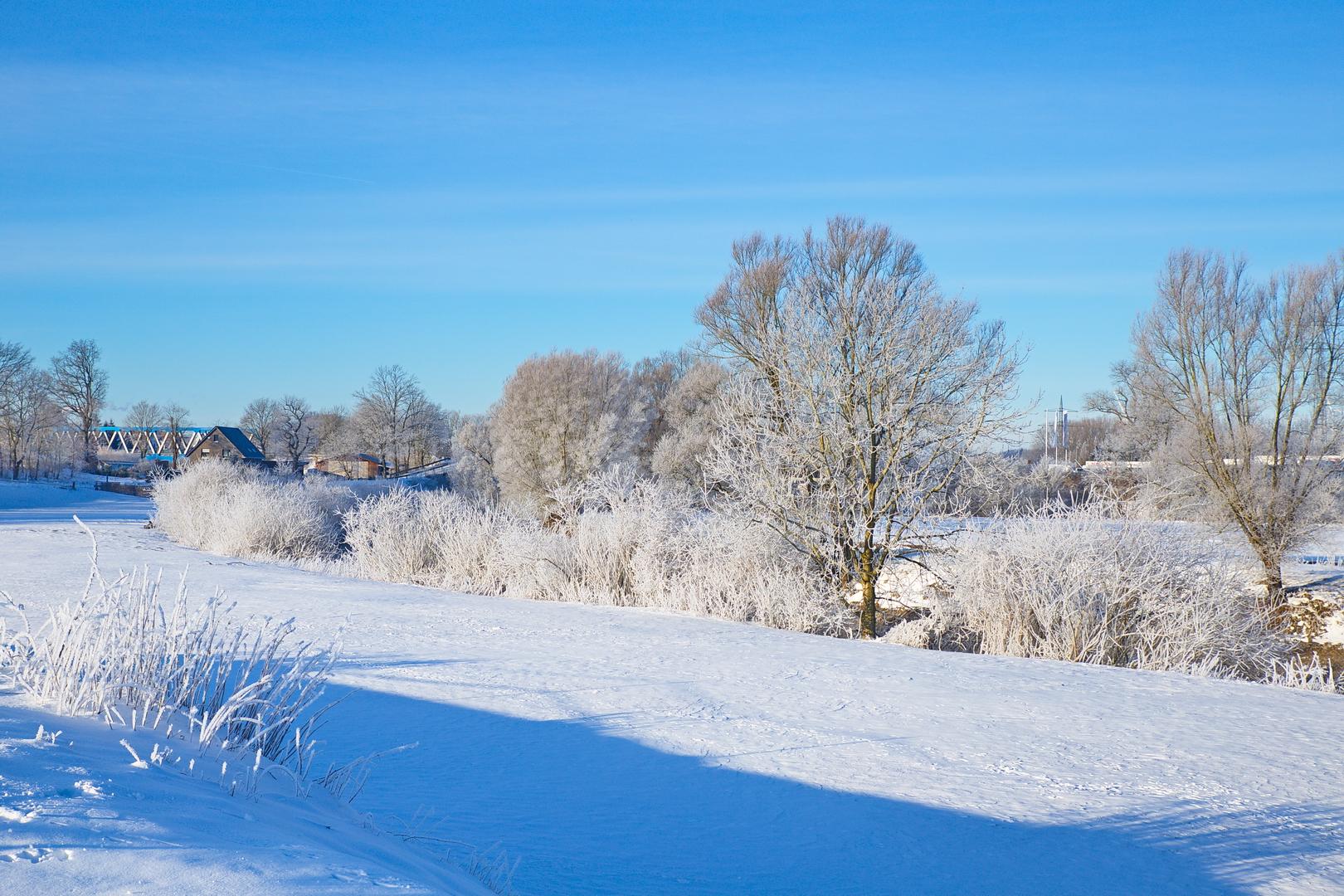 Bossendorfer Schneelandschaft im Februar 2021.