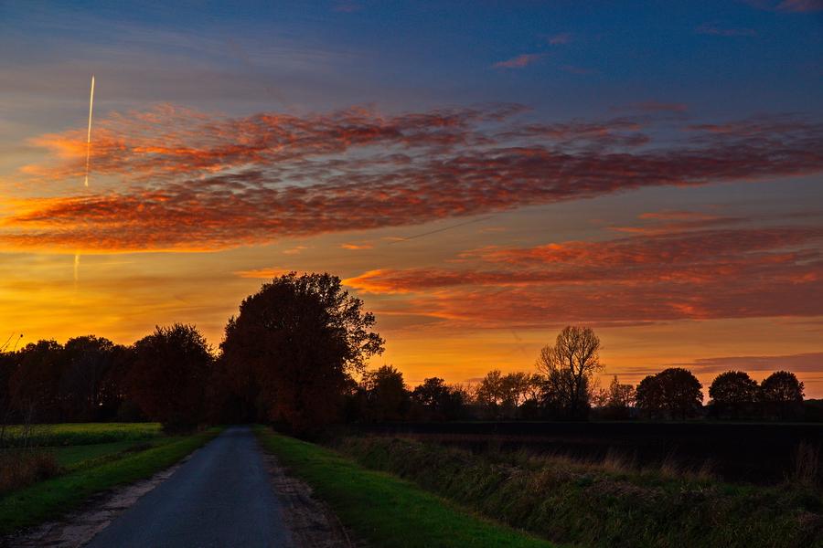 Sonnenuntergang in Merfeld