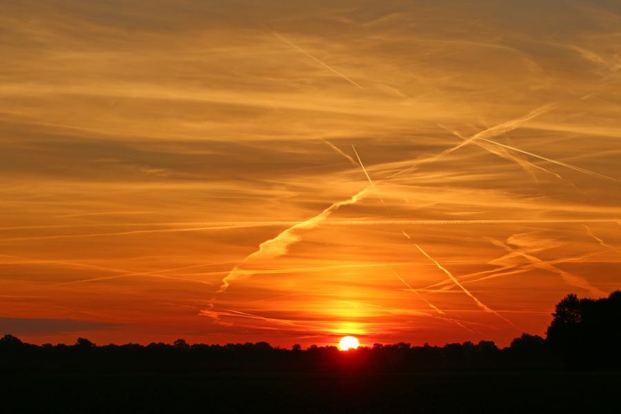 Sonnenaufgang in Merfeld.