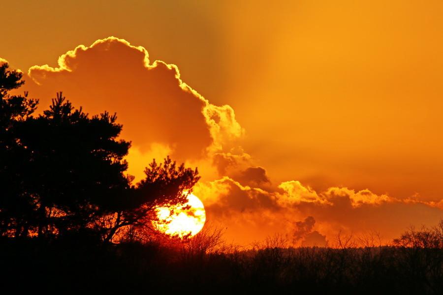 Sonnenuntergang in Hullern.