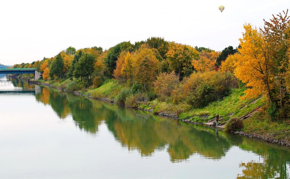 Wesel-Dattel-Kanal in Haltern-Flaesheim Ende Oktober.