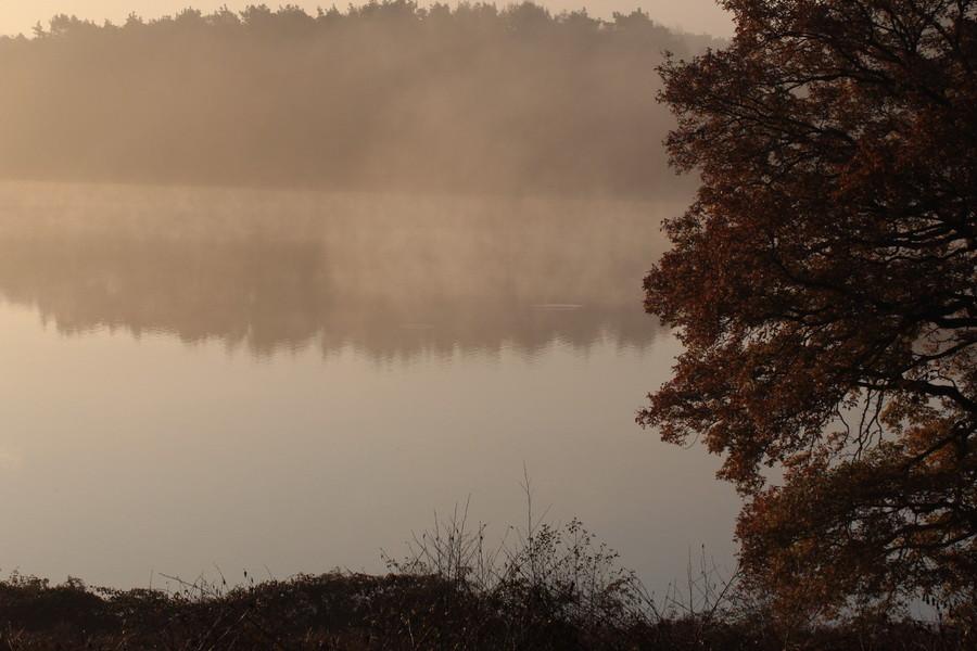 Hullerner Stausee morgens im Herbst