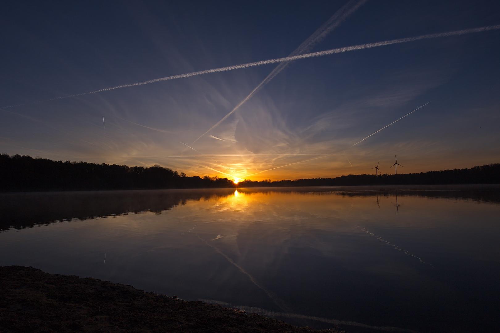 Sonnenaufgang im November 2020 in Hullern.