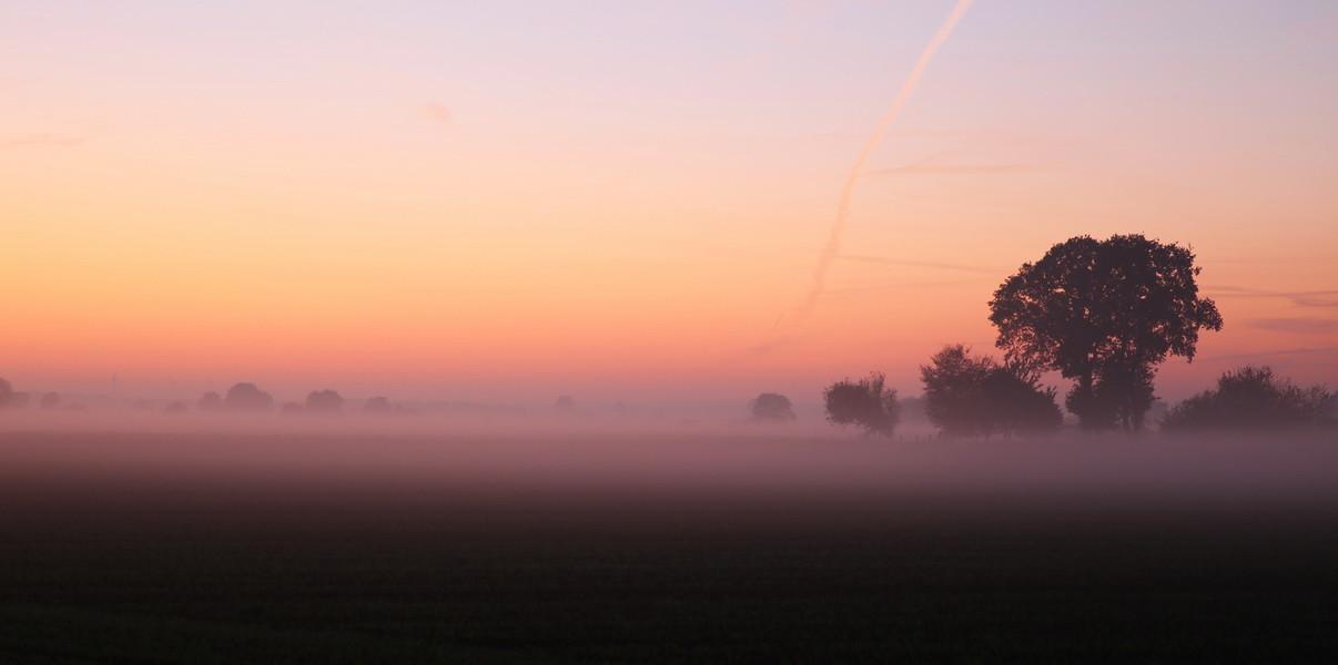 Sonnenuntergang in Merfeld.