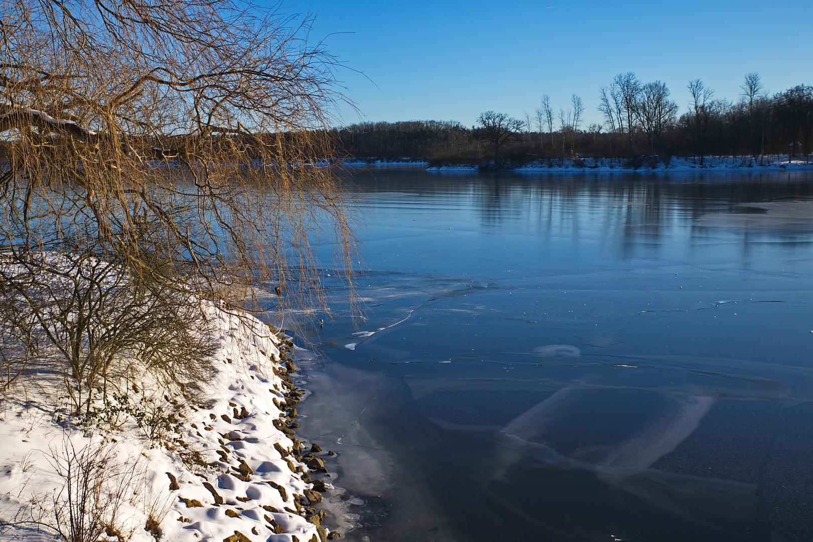 Hullerner See im Februar 2021.