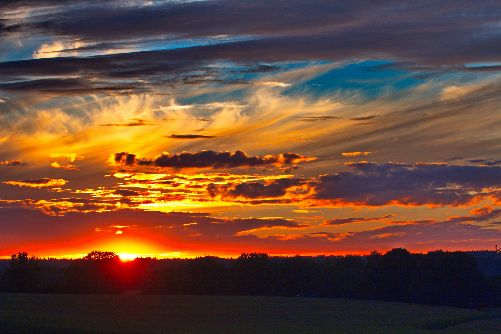 Sonnenuntergang im August 2020.