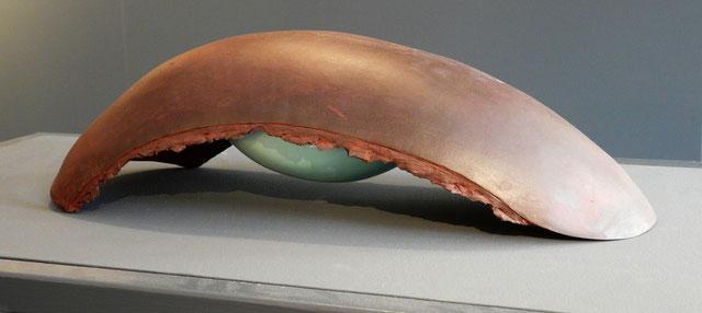 """""""Carapace"""", grès, faïence émaillée (40cm x 60cm x 30cm)"""