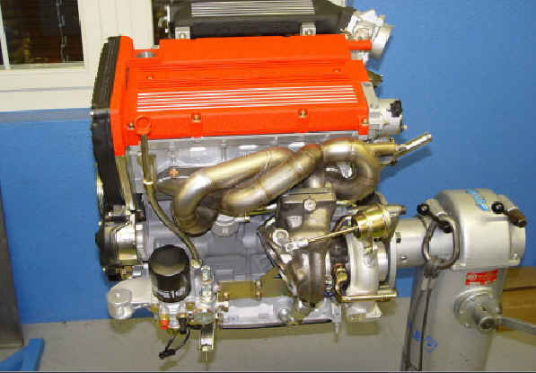 Fertiger Motor kurz vor der Ablieferung