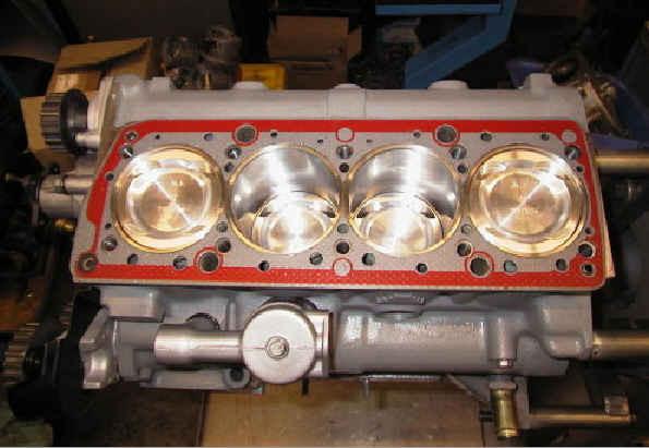 Verwendung einer Stahlring-Zylinderkopfdichtung