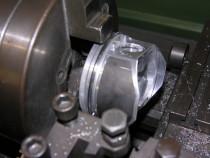 Bearbeitung eines Alfa Kolben