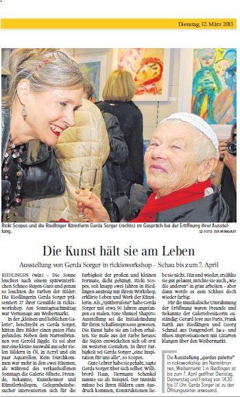 Schwäbische Zeitung 12.03.13