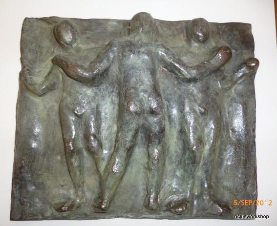three male graces bronze